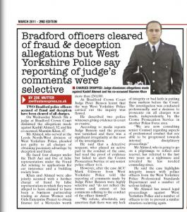 PC Kashif Ahmed cleared of fraud