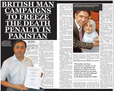 British man campaigns to freeze death penalty in Pakistan