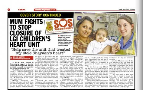 "Front page - ""Save the unit that helped my son"""