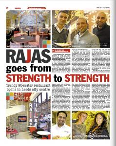 Rajas goes from strength to strength