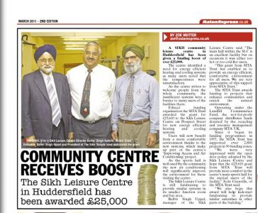 Sikh Leisure Centre receives funding