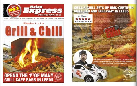 Advertorial for Grill & Chill restaurant